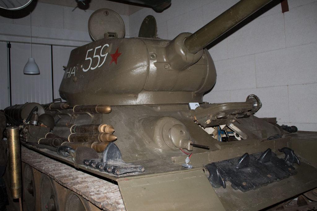 Russisk T34 kampvogn – vægt 30 tons